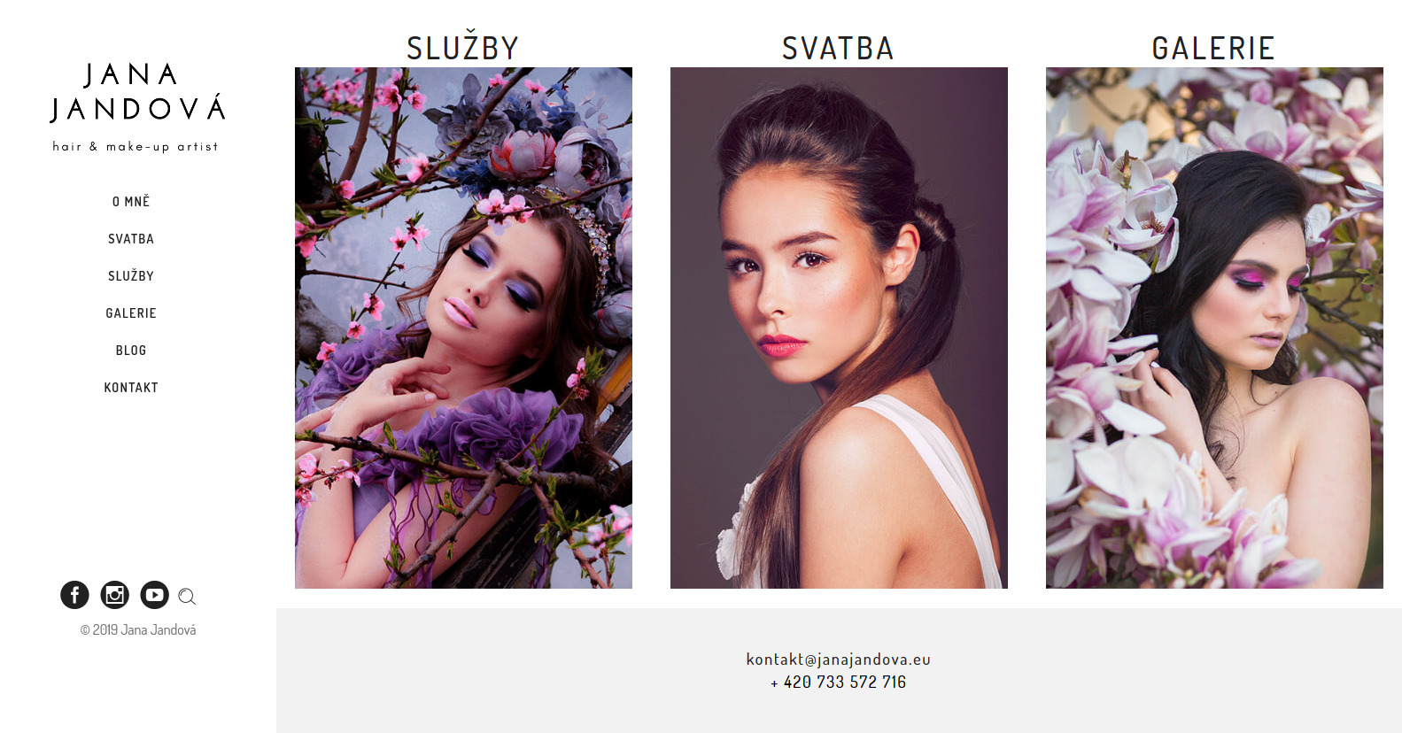 Jana Jandová Makeup artist Hair stylist reference web Dagmara Málková webdesignér a konzultant