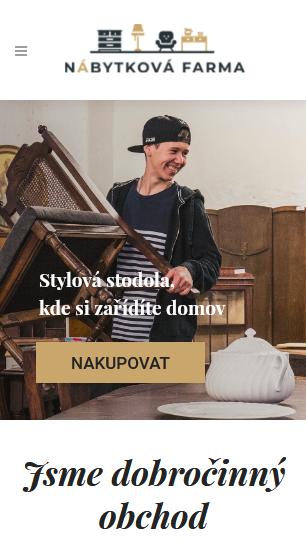 Nábytková farma dobročinný obchod s nábytem reference mobilní verzewebdesignér Dagmara Málková