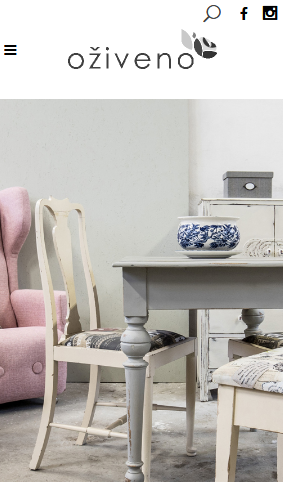 Oživeno čalounictví renovace nábytku prodej designového nábytku reference webu mobilní verze Dagmara Málková webdesignér a konzultant