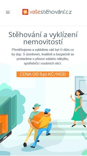 vaše stěhování mobil web reference Dagmara Málková webdesignér a konzultant wordpress
