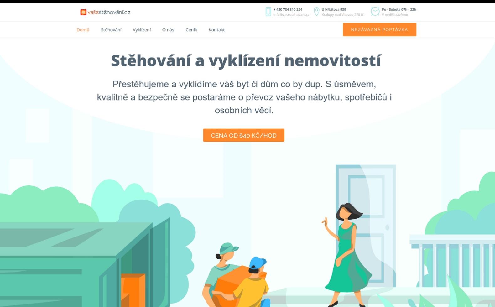 Vaše stěhování reference webu Dagmara Málková webdesignér a konzultant wordpress
