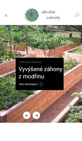 Dřevěné zahrady ze dřeva od Kamila Talíře mobil web reference Dagmara Málková webdesignér a konzultant wordpress