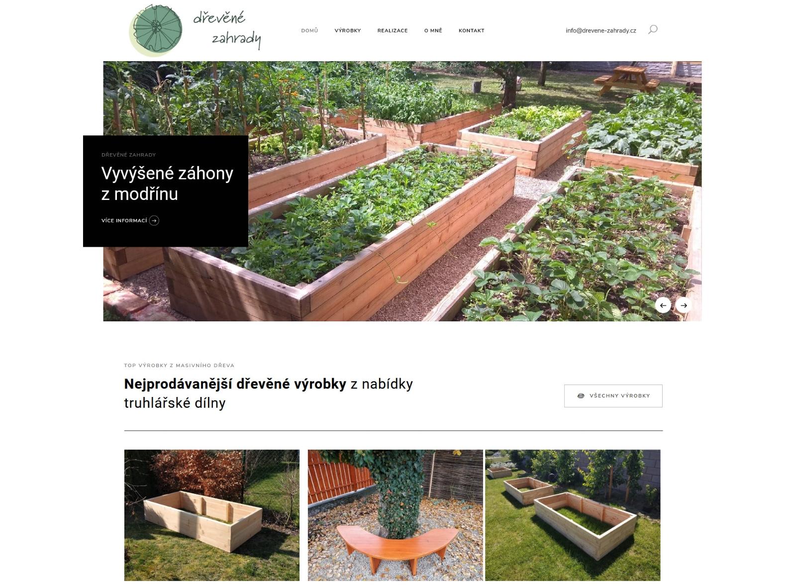 Dřevěné zahrady - cokoli ze dřeva od Kamila Talíře vyvýšené záhony lavičky reference webu Dagmara Málková webdesignér a konzultant wordpress